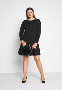 JUNAROSE - by VERO MODA - JRCHARLOTTE ABOVE KNEE DRESS - Vestido ligero - black - 1