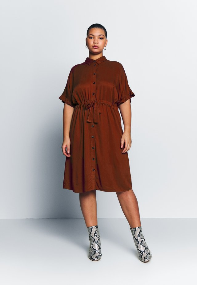 JRALWIA  - Shirt dress - madder brown