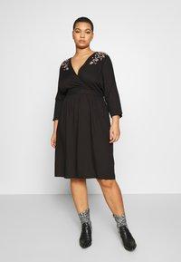 JUNAROSE - by VERO MODA - JROCTAVIA SLEEVES DRESS - Robe d'été - black - 0