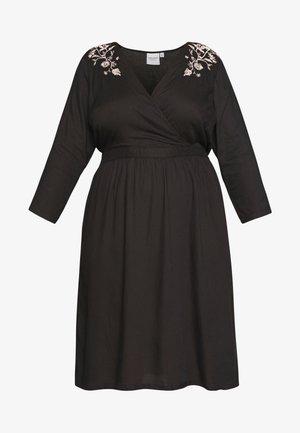 JROCTAVIA SLEEVES DRESS - Vestido informal - black