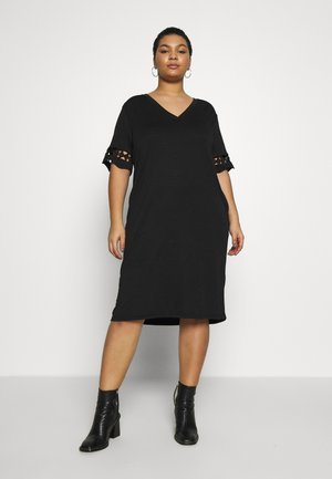 JRFARA BELOW KNEE DRESS - Korte jurk - black