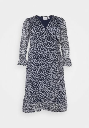 JRLUNA WRAP DRESS - Hverdagskjoler - navy blazer/snow white
