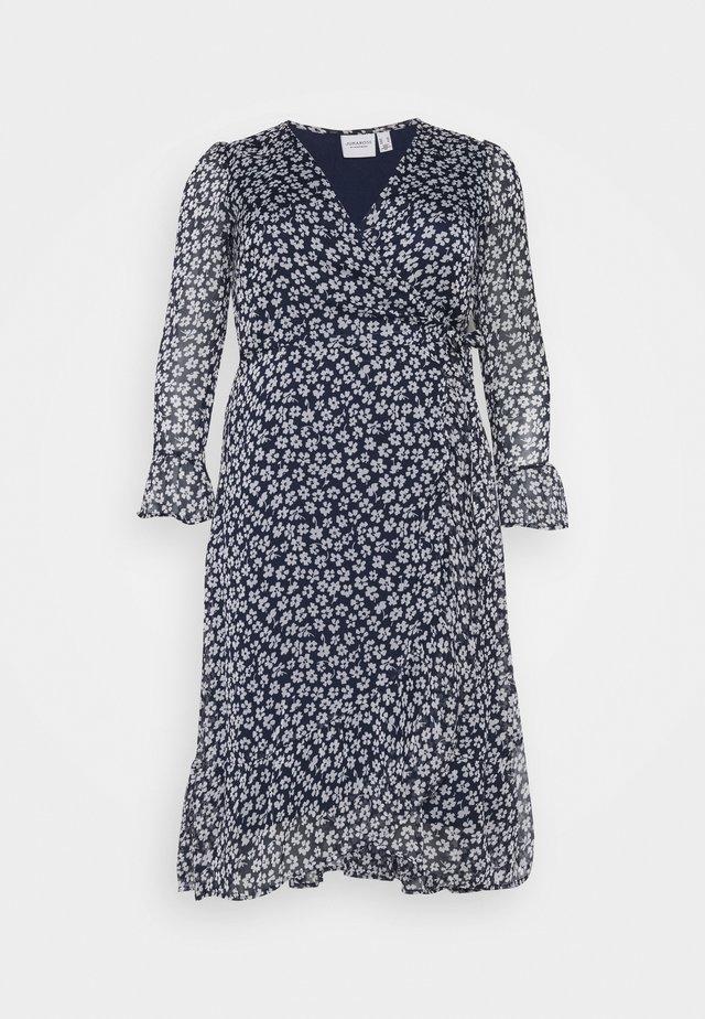 JRLUNA WRAP DRESS - Kjole - navy blazer/snow white