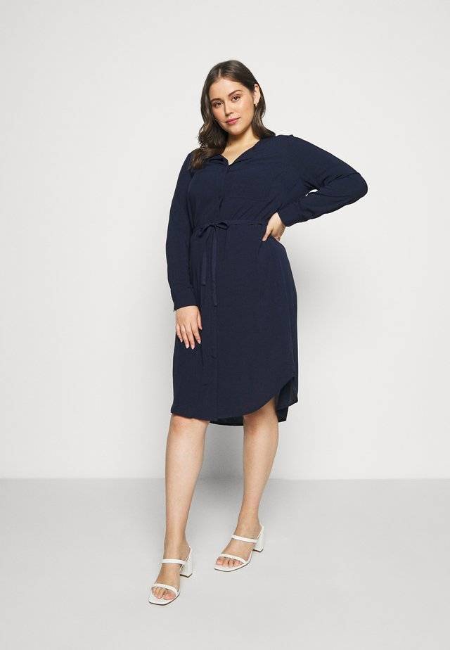 JRVERONICA SOLID ON KNEE DRESS  - Blousejurk - navy blazer