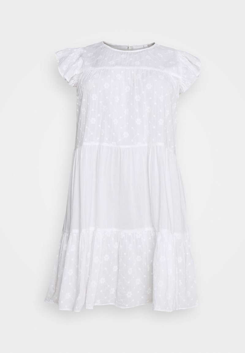 JUNAROSE - by VERO MODA - JRDAISY ABOVE KNEE DRESS  - Korte jurk - snow white