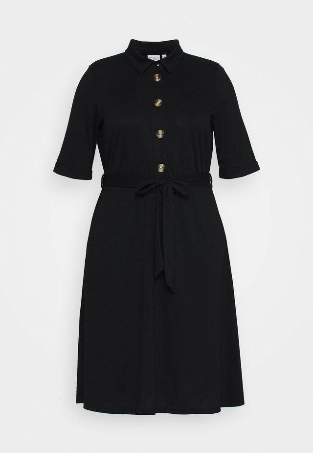 JRJAMINA BELOW KNEE DRESS - Jerseyjurk - black