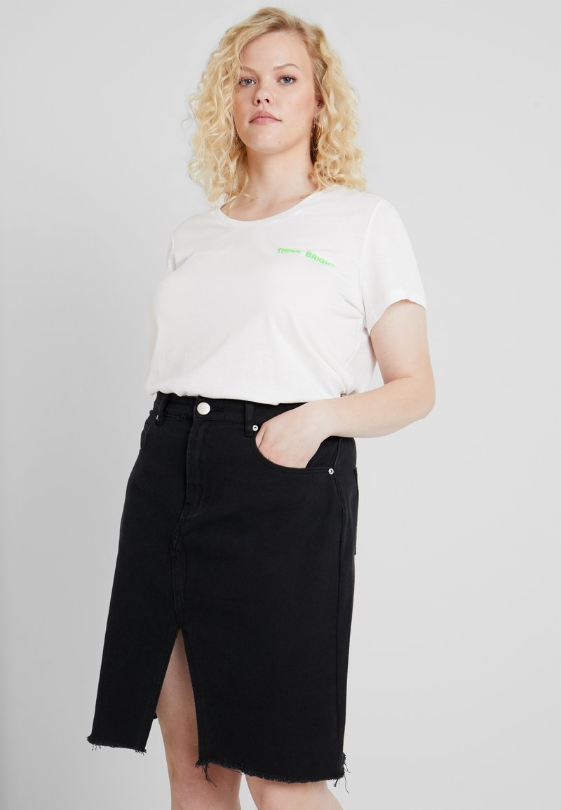 JUNAROSE - by VERO MODA - JRANITA - Print T-shirt - snow white/neon green