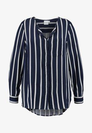 JRVERONICA STRIPE - Top sdlouhým rukávem - navy blazer/snow white