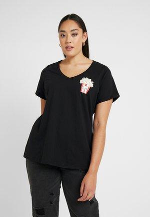 JRPOPCORNROXY  - Print T-shirt - black
