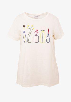 JRPLANT BONJOUR - T-shirt imprimé - snow white
