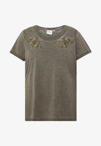 JUNAROSE - by VERO MODA - JRMAYBRIT - T-shirt imprimé - ivy green - 3
