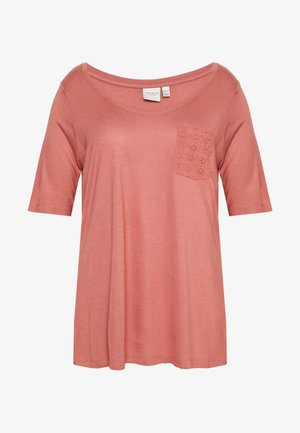 JRARWEN SLEEVE TOP - T-shirt imprimé - canyon rose
