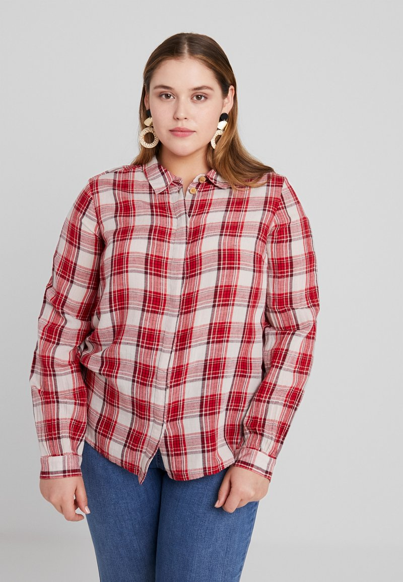 JUNAROSE - by VERO MODA - JRIRENA SLEEVE - Button-down blouse - high risk red