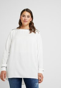 JUNAROSE - by VERO MODA - JRSHAMANTA LONG SLEEVE BLOUSE - Blouse - snow white/black - 0