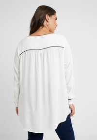 JUNAROSE - by VERO MODA - JRSHAMANTA LONG SLEEVE BLOUSE - Blouse - snow white/black - 2
