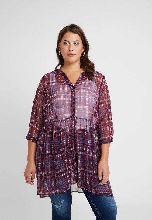 JUNAROSE - by VERO MODA JRSALAYREVEA SLEEVE LONG - Bluzka - cabernet Odzież Damska COHH-MF6 trwałe modelowanie