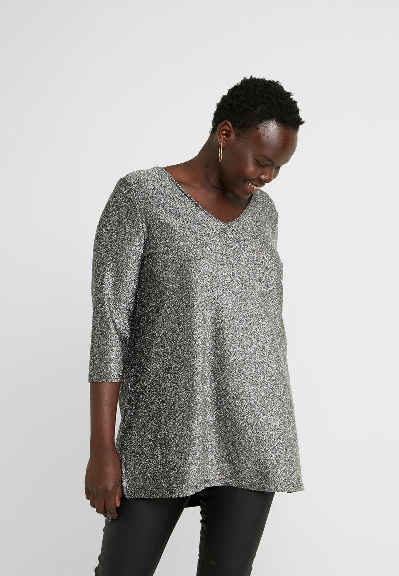 JUNAROSE - by VERO MODA - JRSAKINA BLOUSE - Bluzka z długim rękawem - black/silver