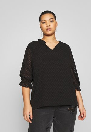 JRNIZA 3/4 SLEEVE BLOUSE - Bluser - black