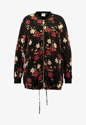 JRMALENA LONG JACKET - Bomber Jacket - black/flowers
