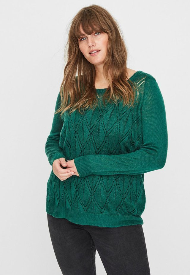 REGULAR FIT - Pullover - dark green
