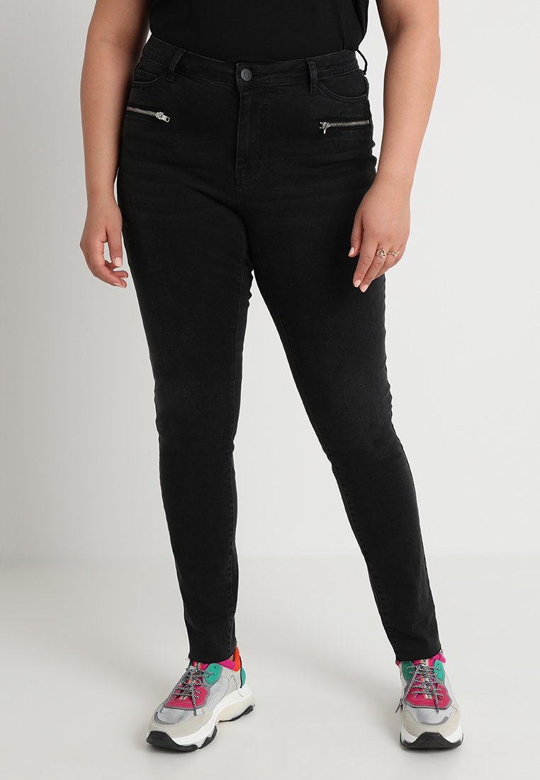 JUNAROSE - by VERO MODA - AUGUSTA - Jeans Skinny Fit - black denim