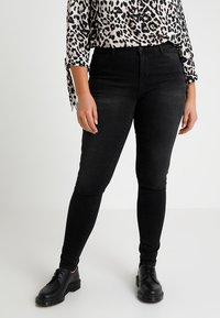 JUNAROSE - by VERO MODA - JRFIVE SHAPE - Jeans Skinny - dark grey denim - 0