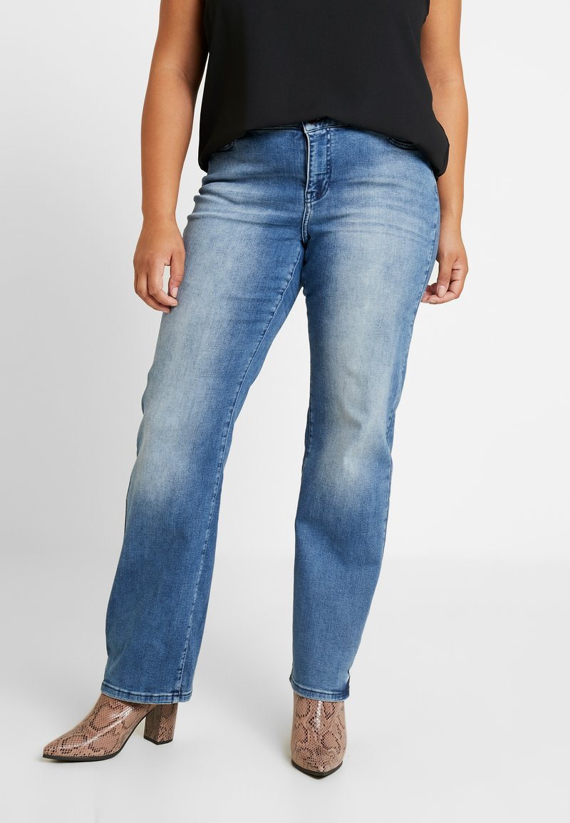 JUNAROSE - by VERO MODA - JRTENJUVA - Straight leg jeans - medium blue denim