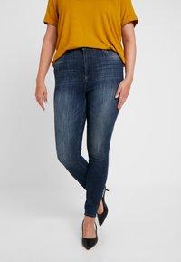 JUNAROSE - by VERO MODA - JRZEROAURAK - Jeans Skinny Fit - dark blue denim - 0