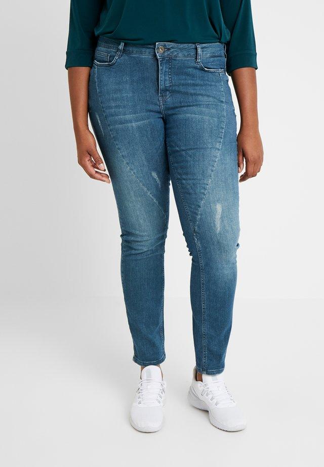 JRFIVESANLI - Skinny džíny - dark blue denim