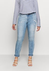 JUNAROSE - by VERO MODA - JRFIVE ADIA ANKLE  - Jeans Slim Fit - light blue denim - 0