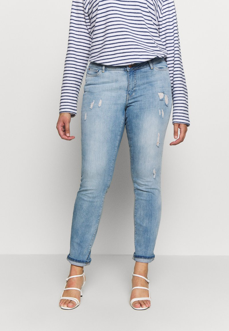 JUNAROSE - by VERO MODA - JRFIVE ADIA ANKLE  - Jeans Slim Fit - light blue denim