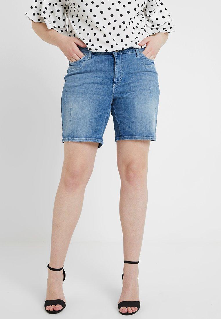 Junarose - MADISON  - Jeans Shorts - medium blue denim
