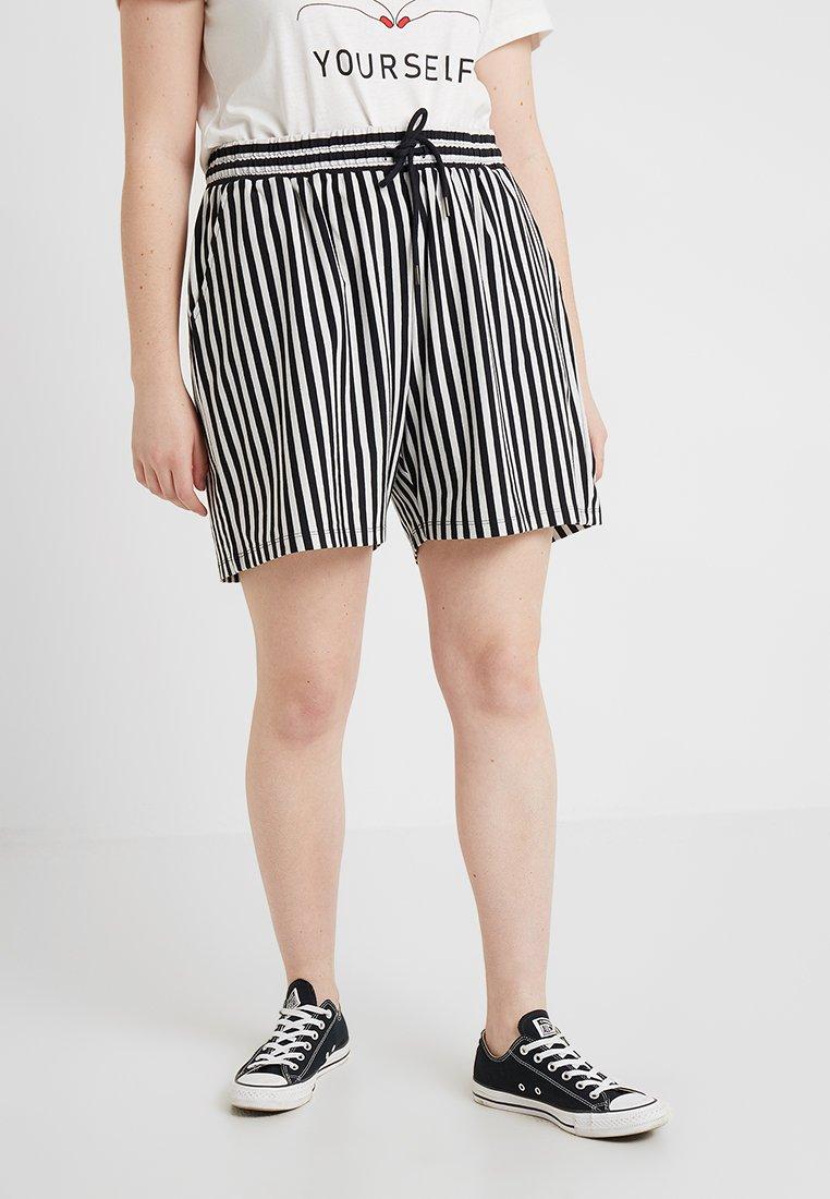 Junarose - JRMACI SHORTS - Shorts - snow white/with black