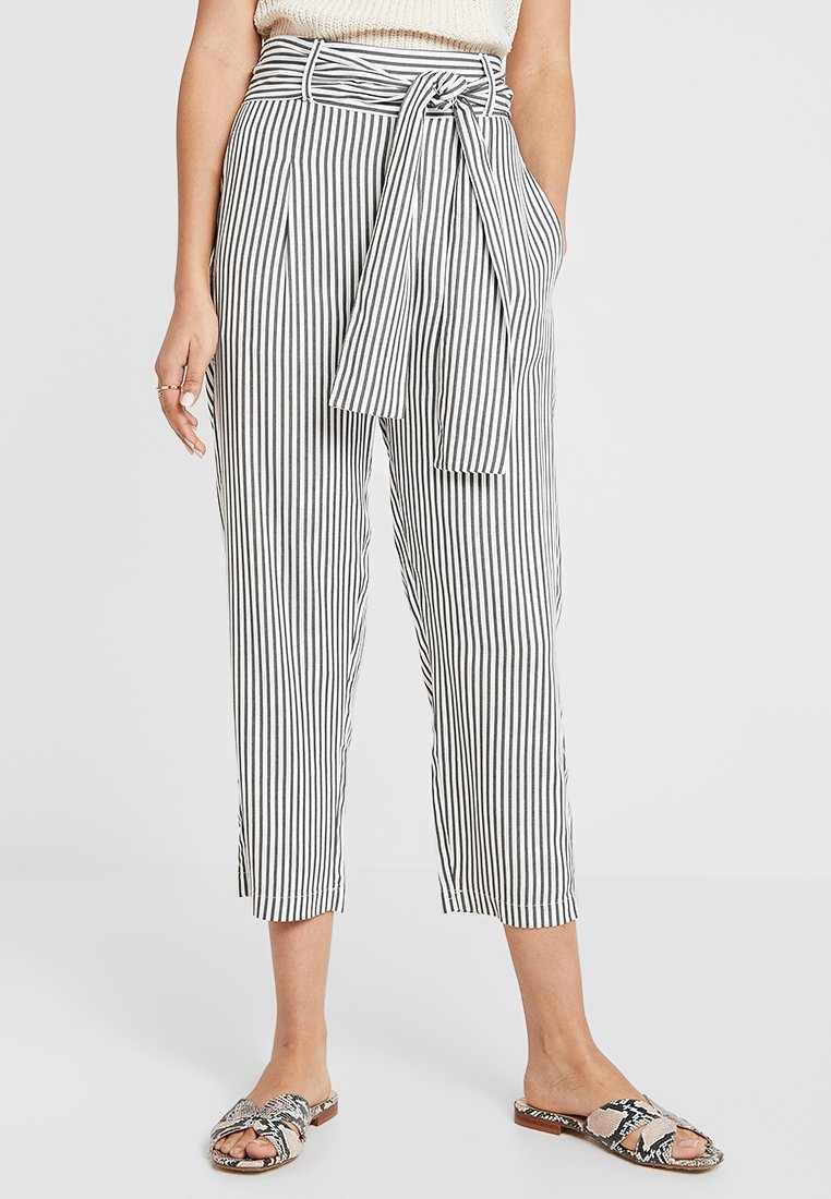 JUST FEMALE - BEACH TROUSERS - Trousers - green/white