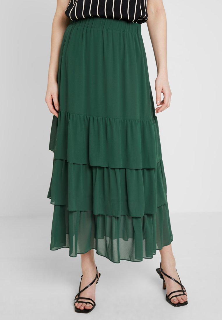 JUST FEMALE - LERA SKIRT - Faltenrock - dark green