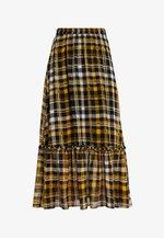 BRIX MAXI SKIRT - Długa spódnica - black/yellow
