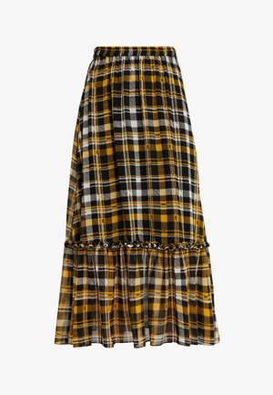 BRIX MAXI SKIRT - Maxirok - black/yellow