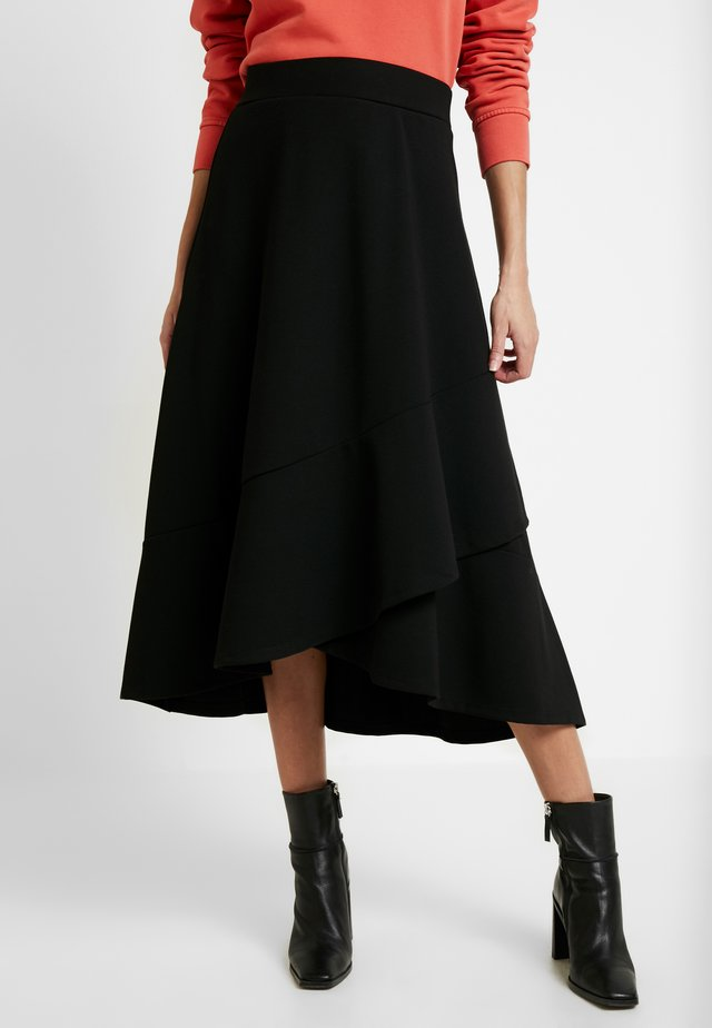 KIRSTI SKIRT - A-Linien-Rock - black