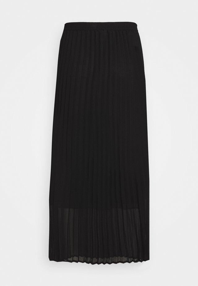 ROE PLEATED SKIRT - Spódnica trapezowa - black