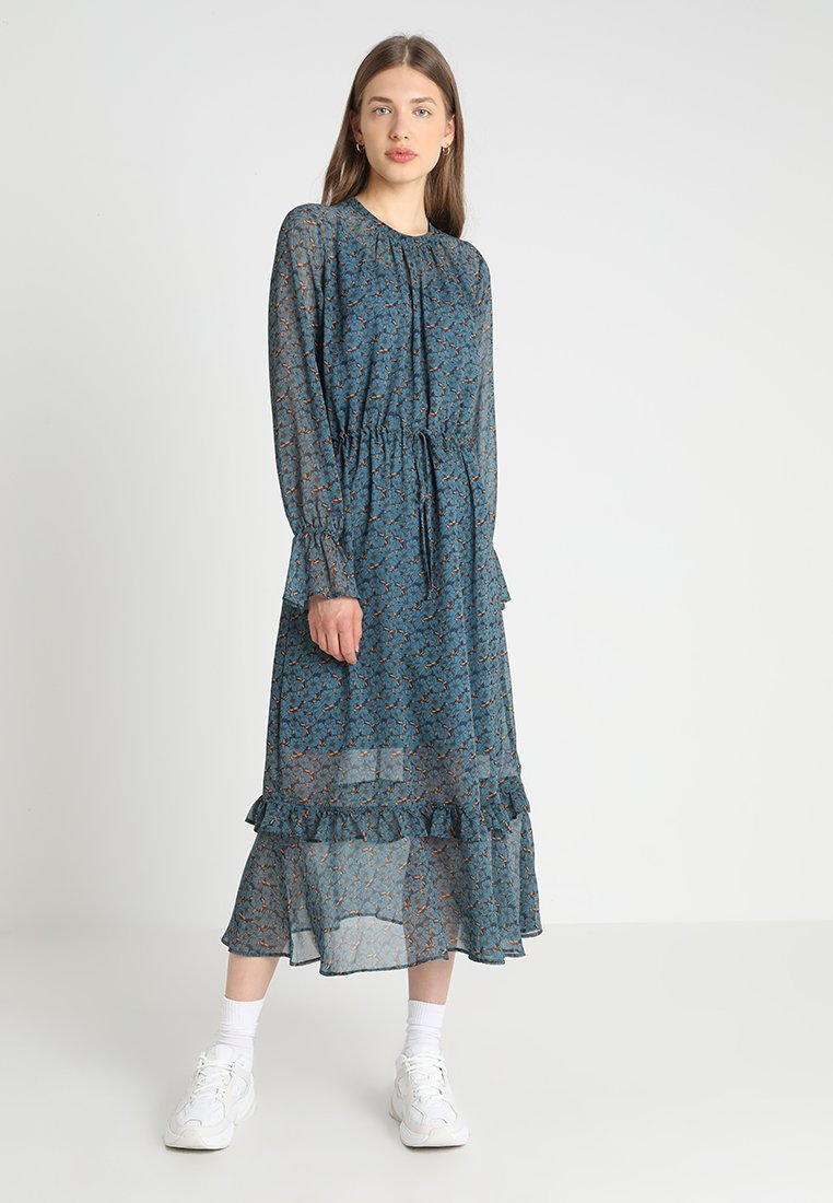 JUST FEMALE - MAINE DRESS - Maxi dress - mottled blue