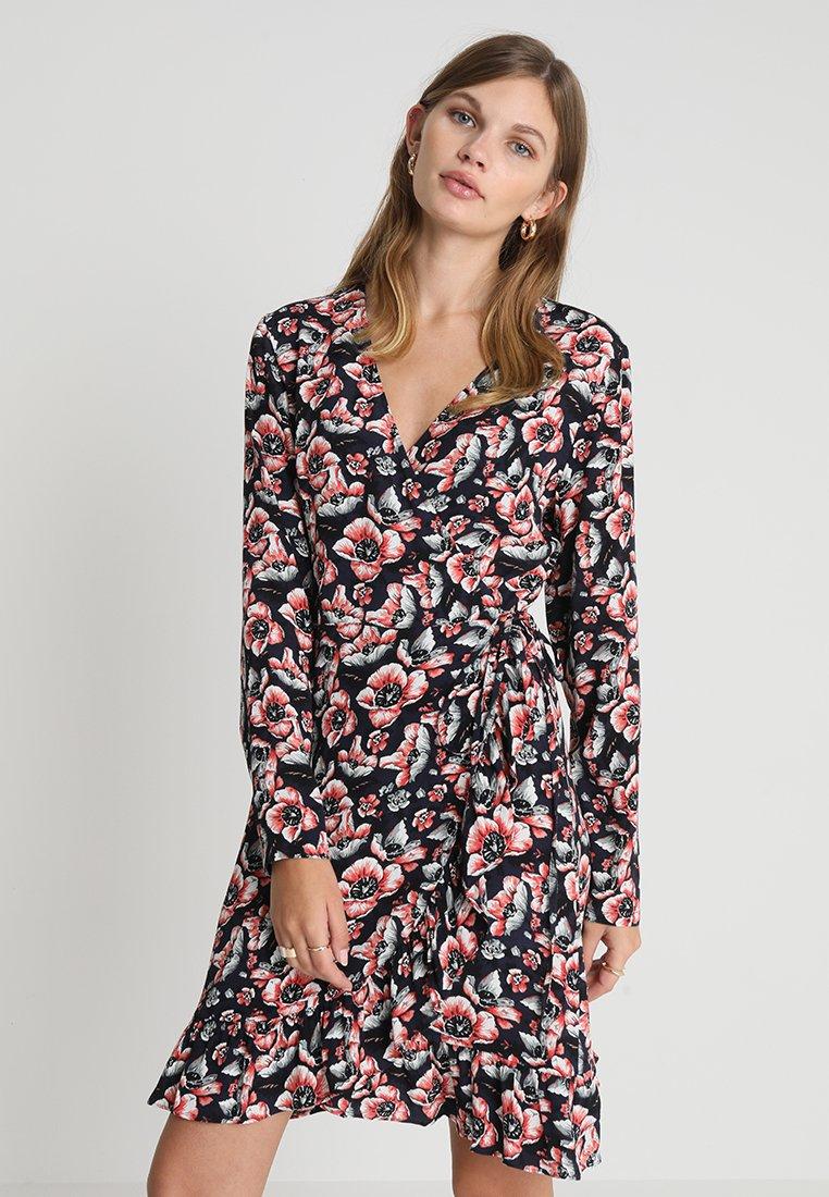 JUST FEMALE - SEAN WRAP DRESS - Day dress - wild flower blue