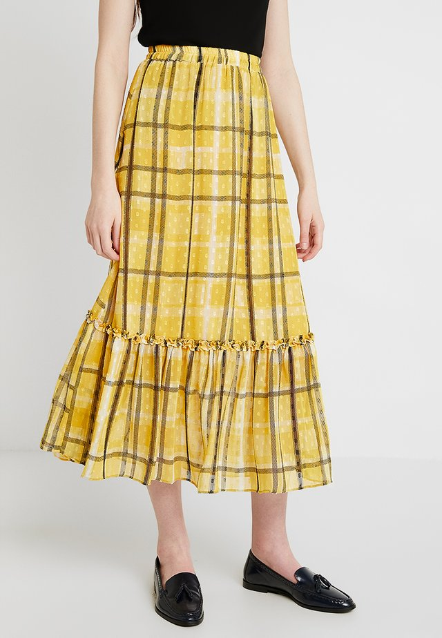 A-line skirt - pale yellow