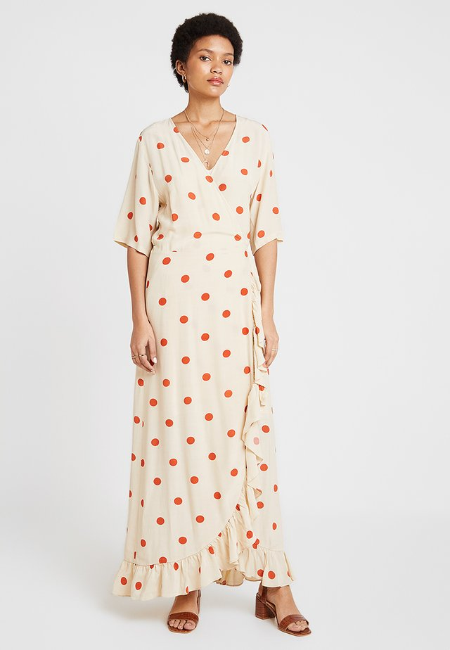 ADELIA WRAP DRESS - Maxi-jurk - birch