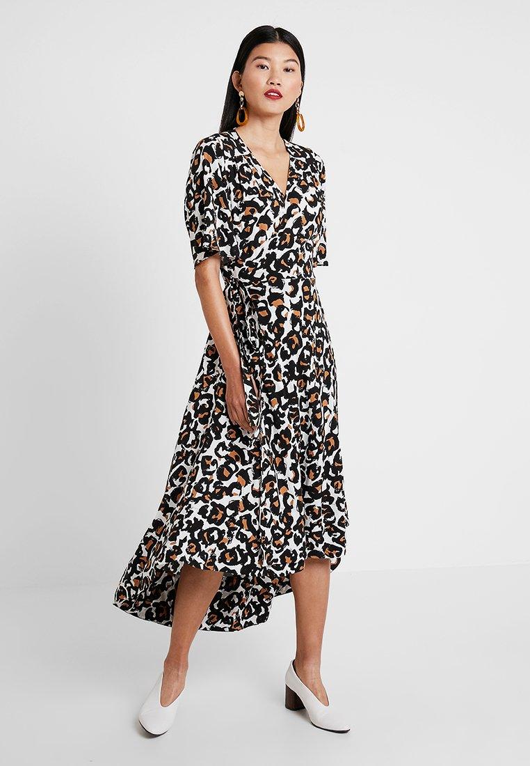 JUST FEMALE - WRAP DRESS - Maxi dress - brown