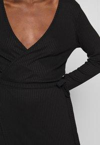 JUST FEMALE - EDDA WRAP DRESS - Jumper dress - black - 6