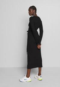 JUST FEMALE - EDDA WRAP DRESS - Jumper dress - black - 2