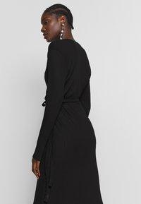 JUST FEMALE - EDDA WRAP DRESS - Jumper dress - black - 4