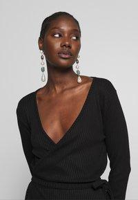 JUST FEMALE - EDDA WRAP DRESS - Jumper dress - black - 3