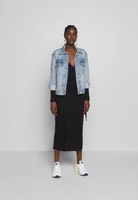 JUST FEMALE - EDDA WRAP DRESS - Jumper dress - black - 1