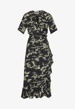 MAKO WRAP DRESS - Maxi šaty - black/yellow